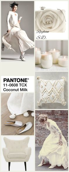 '' Coconut Milk – Pantone '' by Reyhan S. & # & # Kokosmilch – Pantone & # & # von Reyhan S. Vintage Bee, French Vintage, Red Pear, Pink Peacock, Little Boy Blue, Color Collage, Mood Colors, So Creative, Color Stories