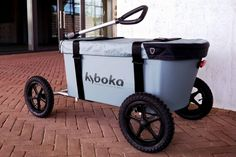Save your back the hassle and tow your gear in this lightweight and highly maneuverable off-road cart instead.