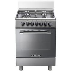 P664GVX Cucina a Gas 4 Zone Cottura con Forno a Gas Dimensione 60 x 60 cm Colore Inox