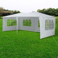 10 x 20 Outdoor Wedding Party Tent 4 Sidewalls Screen White -- More info could be found at the image url.