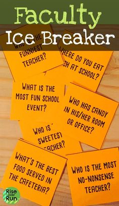 This is the perfect faculty and staff game for back to school! School faculty and staff ice breaker game, get to know you, great for back to school orientation, inservice, or faculty meeting. Fun game of quiz quiz trade questions! Faculty Meetings, Faculty And Staff, School Staff, School School, School Ideas, School Humor, Teacher Ice Breakers, Teacher Team Building, Icebreaker Activities
