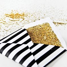 DIY Glitter Detail Envelopes.