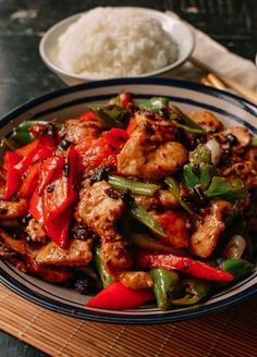 Chicken with Black Beans (2 chicken breasts), by thewoksoflife.com