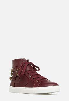 2797a0d5865f10 JustFab DANNY SNEAKER Womens Red Size 7 Sporty Chic