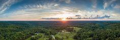 Sunset over Hocking Hills OH [OC] [9382x3195]