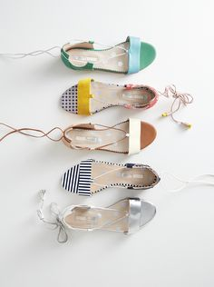 With a wide strap across the toes and support around the ankle, these open-toe sandals have hours of weekend roaming covered. Pick from leather styles in mirrored metallics, paisley prints and a range of solid bright shades. Colour contrast tassels add the finishing touch to wraparound laces.