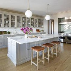 lagoon silestone countertops on white cabinets | ... countertop overhang, overhang countertop, island sink, white and gray