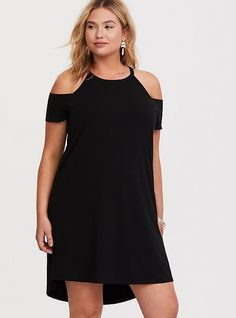 ba7f53b448381 11 Best Black cold shoulder top outfit images | Black cold shoulder ...