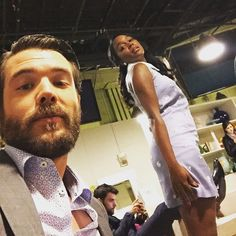 """""""About to go on @theviewabc with all my friends including these two - @ajanaomi_king and @jackfalaheeofficial"""""""