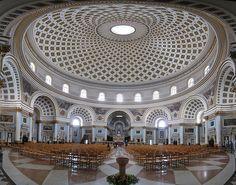 Mosta Dome Church Interior, Malta by moragcasey, via Flickr