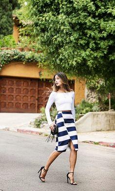Fashion Jacket || Blog sobre tendências, moda, beleza, séries, viagens e tudo mais: [Inspiração] Saia lápis + cropped