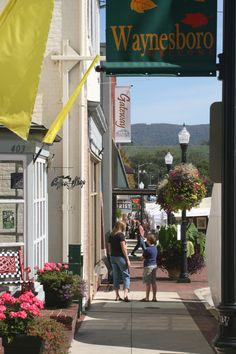 Main Street Waynesboro, Virginia- I can't wait to visit my brother here!!!