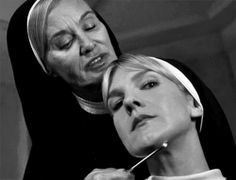 Jessica Lange as Sister Jude & Lily Rabe as Sister Mary Eunice, Asylum