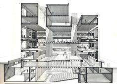 Escola de Arte e Arquitetura de Yale. Uma forma complexa contendo espaços complexos – cada qual modelado para um fim específico. #ARCHITECTURE #ARQUITECTURA #ARQUITETURA #PERSPECTIVE 12.12.2013.22.11 http://coisasdaarquitetura.wordpress.com/2010/11/11/a-fantasia-da-funcao/  A CIDADE BRANCA BOOKSTORE