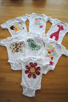 21 Ideas Baby Clothes Diy Onesies Sew For 2019 Baby Clothes Patterns, Baby Kids Clothes, Baby Patterns, Diy Clothes, Sewing Patterns, Baby Sewing Projects, Sewing For Kids, Baby Shirts, Onesies