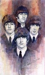 Watercolor Art - The Beatles 02 by Yuriy  Shevchuk