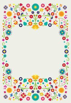 Mosaic Patterns, Pattern Art, Print Patterns, Mexican Invitations, Party Invitations, Free Invitation Templates, Mexican Party, Flower Doodles, Butterfly Wallpaper