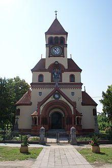 Ladná, Czech Republic kostel sv Michaela archanděla nedaleko Břeclavi