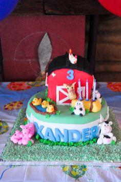 Barnyard cake Barnyard Cake, Cake Creations, Birthday Cake, Baking, Desserts, Food, Tailgate Desserts, Deserts, Birthday Cakes