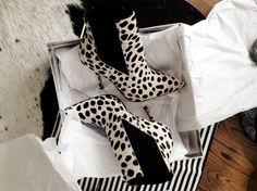 Kurt Geiger dalmatian print boots