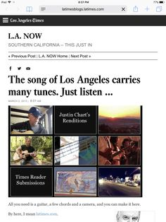 Steve Lopez of The Los Angeles Times and Justin Chart of Los Angeles