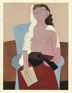 Pablo Picasso. Femme Assise, [ca.1930] by Gandalf's Gallery on Flickr.