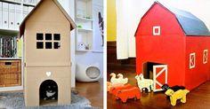 27 hraček, které snadno vyrobíte z kartonových krabic