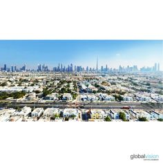 Dubai's city skyline viewed from Jumeirah Beach Dubai City, Aerial View, Paris Skyline, Dolores Park, Tours, World, Beach, Travel, Viajes