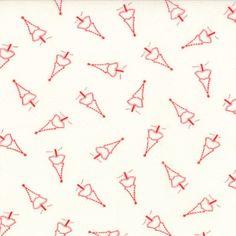 Winter Wonderland - Oh Christmas Tree in Snow White (2873 11) // Juberry Fabrics