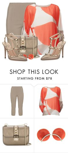 """19-Valentino Rockstud"" by samketina ❤ liked on Polyvore featuring Twister, Phase Eight, Valentino and Valentin Magro"