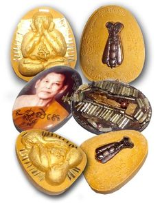 3 Amulet Special Gammagarn Collector Set (#55) of 100 - 'Serp Dtamnan Luang Phu Noi' Edition 2555 BE - Luang Por Phern Statue Building Fundraiser - Luang Por Jerd - Suan Badibat Tam Po Sethee