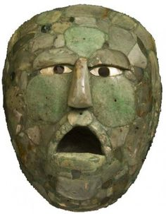 Jade Mask of the Maya Historical Artifacts, Ancient Artifacts, Maya Art, Mayan Mask, Aztec Ruins, Mesoamerican, Indigenous Art, Ancient Civilizations, Tribal Art