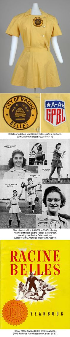 Belles images -- good view of patch Baseball Uniforms, Baseball League, Baseball Girls, All American Girl, American History, Rockford Peaches, No Crying In Baseball, Field Of Dreams, Seattle Mariners