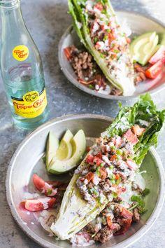 Paleo and Whole 30 friendly Southwestern Taco Salad Wedge! Paleo Whole 30, Whole 30 Recipes, Paleo Recipes, Real Food Recipes, Paleo Meals, Meal Recipes, Skinny Recipes, Ketogenic Recipes, Free Recipes