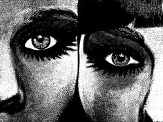 two womens faces eyes printable art Digital Image Download beauty makeup graphics black and white art printables digital prints