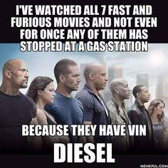 It's like, inVINite diesel. Follow @9gag @9gagmobile #9gag #fastandfurious #vindiesel #pun #dadjokes #instafollow #funny #F4F