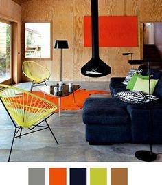 Trending: Orange & Black Interior Decor Home and Garden Blog