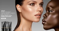 clean, contoured and high lighted skin.  Love alex wek!!!