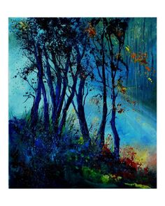 Misty light in a wood by Pol Ledent. Giclee print from Art.com.