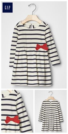 Currently available via gap.com - Stripe bow fit & flare dress