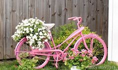 Upcycled Bike Turns Pink ~ Guest Post - Cottage Gal Style
