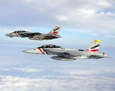 Grumman F-14D/ Boeing F/A-18D Hornet of VFA-2 (Bounty Hunters) - transition from VA-2 (F-14D) to VFA-2 (F/A-18)