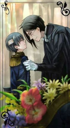 Ciel and Sebastian - Black Butler - Kuroshitsuji Black Butler 3, Black Butler Anime, Anime Manga, Anime Guys, Anime Art, Snape Harry Potter, Book Of Circus, Sebaciel, Ciel Phantomhive