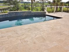 Marble Pool Decks Pleasing Travertine Pool Deck Set In The French Or Versaille Pattern  Tile