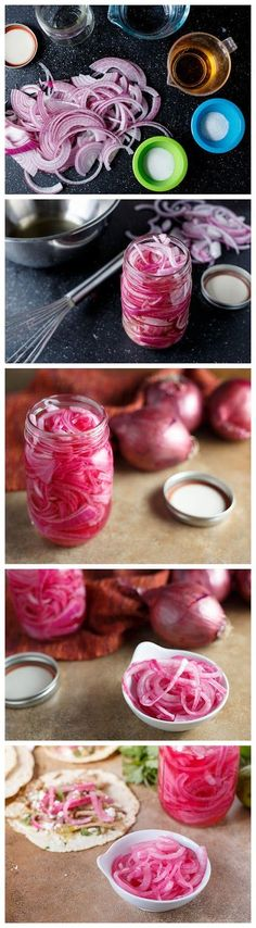 Easy Pickled Onions- just had these on a salad today and they are delish!