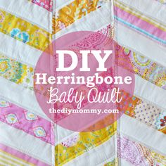 DIY Herringbone / Chevron Baby Quilt Tutorial - (Made it for Dana/ Tiger Jellybean! Quilt Baby, Chevron Baby Quilts, Baby Quilt Tutorials, Quilting Tutorials, Sewing For Kids, Baby Sewing, Herringbone Quilt, Elephant Quilt, Cute Quilts