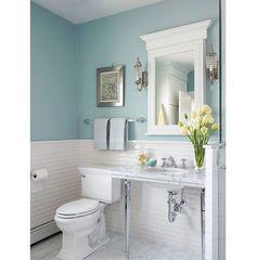 Как покрасить стены в крошечном туалете: 10 идей – Вдохновение