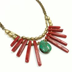 Coral Collar Necklace – TOODLEBUNNY