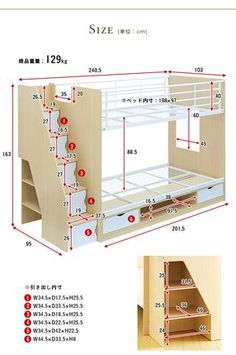 Bunk Beds King Over Twin Bunk Beds Dhp Twin Over Full - Diy furniture beds Bunk Bed Designs, Kids Bedroom Designs, Bedroom Bed Design, Home Room Design, Kids Room Design, Girls Bedroom, Bunk Bed Rooms, Bunk Beds With Stairs, Cool Bunk Beds
