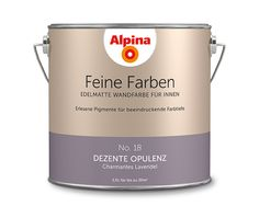 """Alpina Feine Farben """"Dezente Opulenz"""":  Die verhüllte Anmut sowie ihre noble Eleganz machen den anziehenden Charakter dieser charmanten Violett-Nuance aus."""